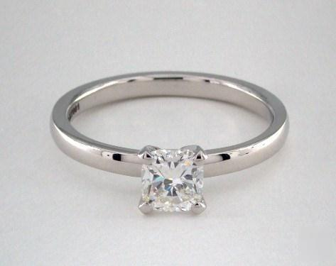 .70ct Cushion, Comfort Fit Solitaire Diamond Engagement Ring in 2mm Platinum
