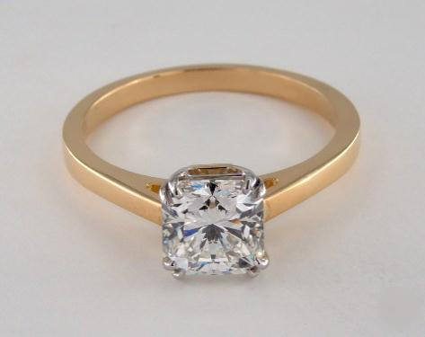 1.70ct Radiant, Timeless Solitaire 4 Double-Claw Prong Engagement Ring in 4mm 18K Yellow Gold