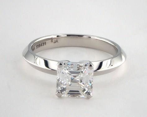 1.59ct Asscher, Classic Solitaire Knife Edge Diamond Engagement Ring in 2.5mm Platinum by James Allen