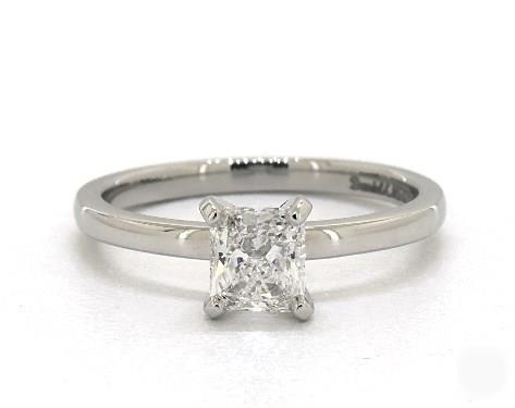 1.01ct Radiant, Comfort Fit Solitaire Engagement Ring in 2mm 14K White Gold by James Allen