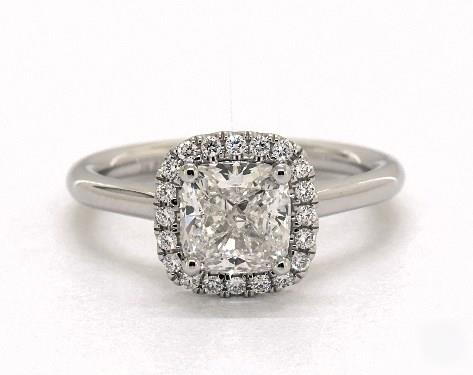1.01ct Cushion, Stunning Halo Diamond Engagement Ring in 1.8mm Platinum by James Allen