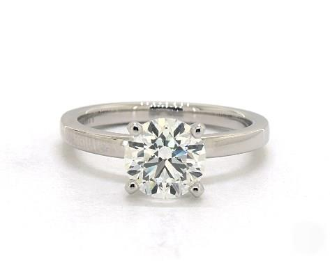 .70ct Round, Comfort Fit Solitaire Diamond Engagement Ring in 2mm Platinum by James Allen