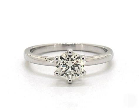 .90ct Round, Solitaire Comfort-Fit 6-Prong Diamond Engagement Ring in 2mm Platinum by James Allen