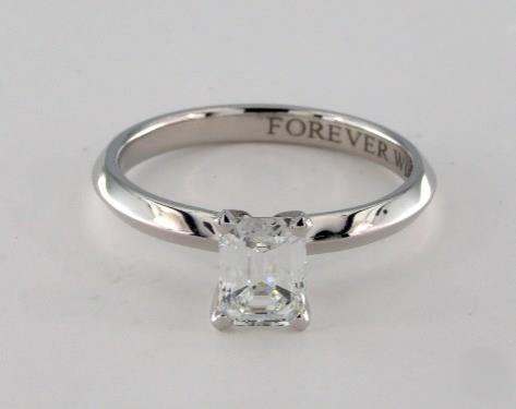 .93ct Emerald Cut, Classic Solitaire Knife Edge Diamond Engagement Ring in 2.5mm Platinum by James Allen