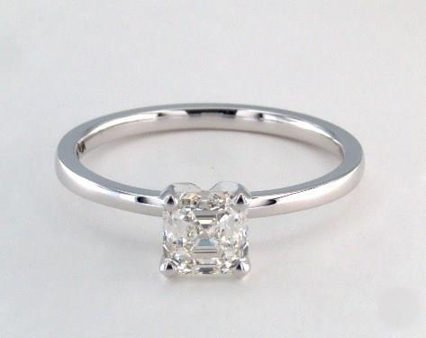 1.15ct Asscher, Comfort Fit Solitaire Engagement Ring in 1.5mm 18K White Gold