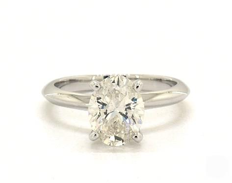 .70ct Oval, Knife-Edge Classic 4-Prong Engagement Ring in 2mm 14K White Gold by James Allen