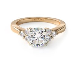 Side-Stone Engagement Ring