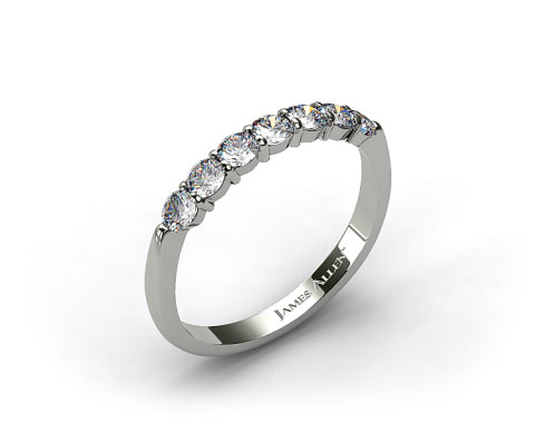 18K White Gold Common Prong Diamond Wedding Ring (.49 CT TW.)