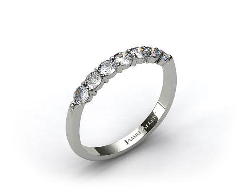 18K White Gold Common Prong Diamond Wedding Ring (.49 CT TW.)