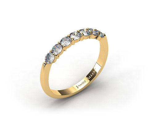 18K Yellow Gold Common Prong Diamond Wedding Ring (.49 CT TW.)