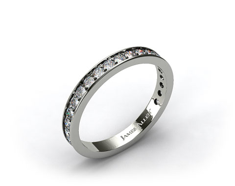 Platinum 0.42ct Pave Diamond Wedding Ring
