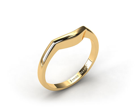 18K Yellow Gold Curved Wedding Ring