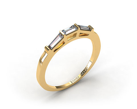 14K Yellow Gold 0.33ct Tapered Baguette Wedding Ring