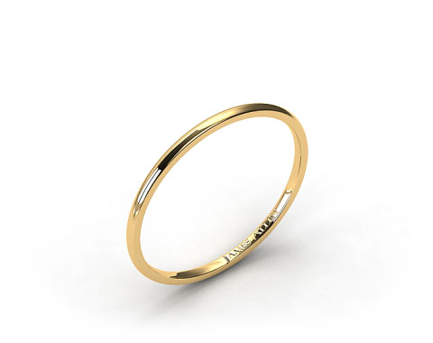 18K Yellow Gold 2mm Comfort Fit Wedding Ring