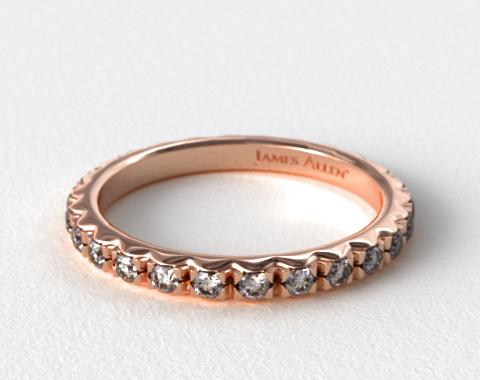 French Cut Pave Diamond Eternity Ring (.56ct tw) | 14K ...
