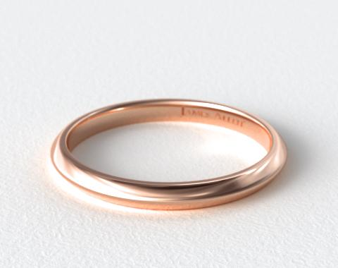 14K Rose Gold 2mm Knife Edge Women's Wedding Ring