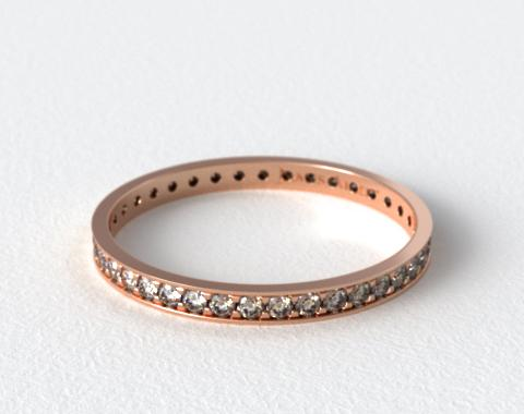 14K Rose Gold Pavé Diamond Eternity Ring