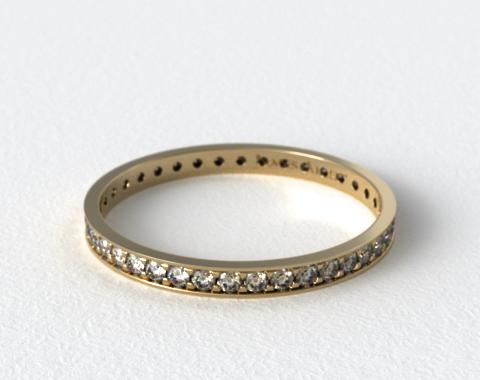 18K Yellow Gold Pave Diamond Eternity Ring