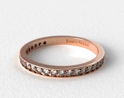 14K Rose Gold 0.20CTW. Pavé Diamond Wedding Ring