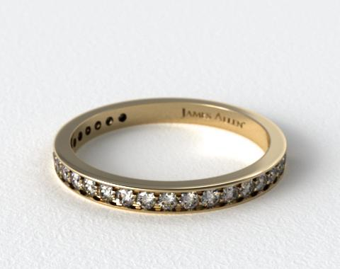 18K Yellow Gold 0.20CTW. Pave Diamond Wedding Ring