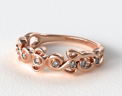 blossoming vine diamond wedding ring 14k rose gold 14750r14
