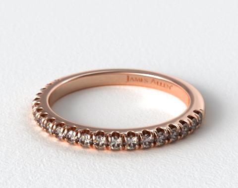14K Rose Gold Perfectly Fit Pavé Diamond Wedding Ring