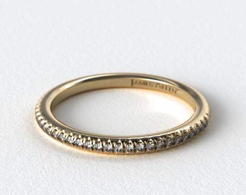 14K Yellow Gold Cross Over Matching Diamond Ring