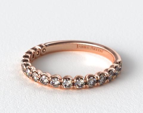 14K Rose Gold Scallop Style Matching Diamond Wedding Ring