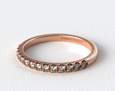 14K Rose Gold Double Halo Matching Diamond Ring