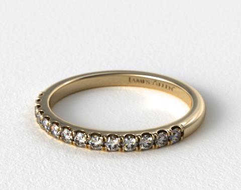 18K Yellow Gold Double Halo Matching Diamond Ring