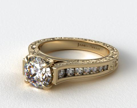 Yellow Gold Engagement Rings On Hand