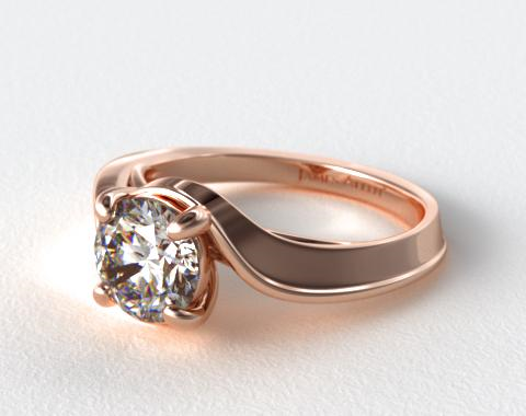 14K Rose Gold Bypass Engagement Ring