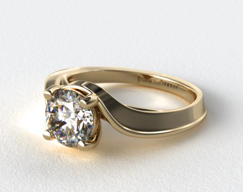 14K Yellow Gold Bypass Engagement Ring