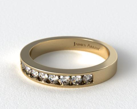 18K Yellow Gold Round Shaped Diamond Wedding Ring (.49 CTW.)