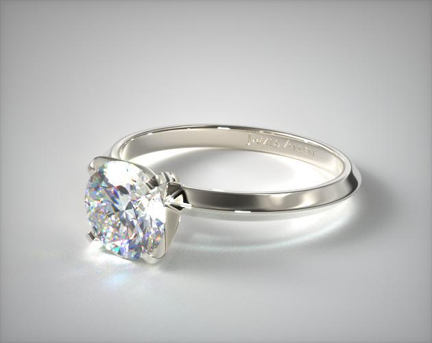 Platinum 2mm Knife Edge Solitaire Engagement Ring