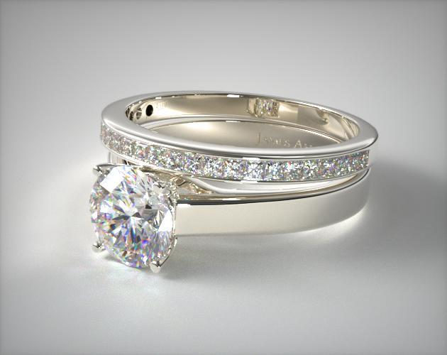 wedding and engagement ring sets jamesallencom - Engagement And Wedding Ring Set