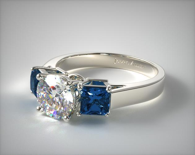 sapphire diamond pear bands anniversary band cut engagement ring stone five