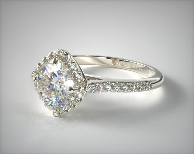 kite set princess engagement ring