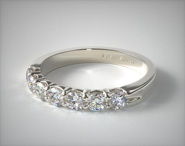 c28bb0505b886 14K White Gold 0.75ctw Seven Stone Common Prong Diamond Anniversary Ring