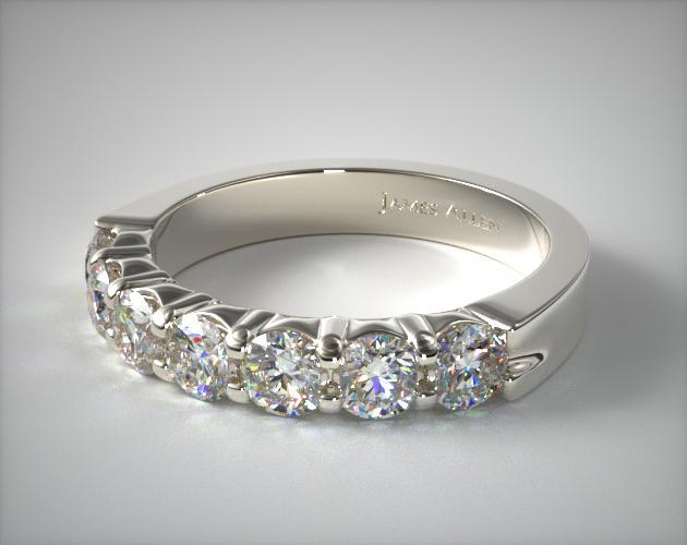 Platinum 0.25ctw Seven Stone Common Prong Diamond Anniversary Ring (F/G)