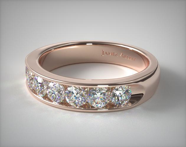 18K Rose Gold 1.50ctw Channel Set Diamond Anniversary Ring