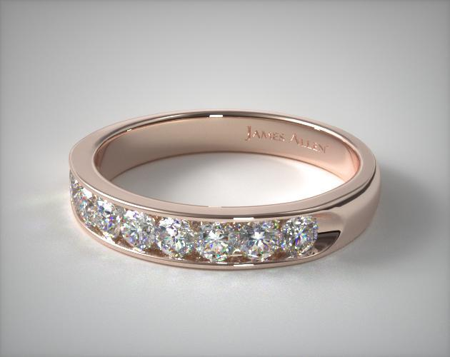 18K Rose Gold 0.50ctw Channel Set Diamond Anniversary Ring
