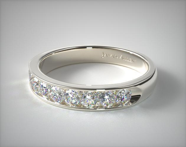Platinum 0.50ctw Channel Set Diamond Anniversary Ring