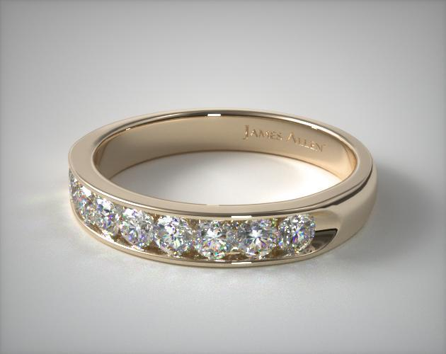 18k Yellow Gold 0.50ctw Channel Set Diamond Anniversary Ring
