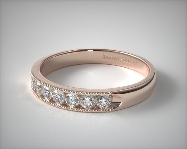 18k Rose Gold 0.25CTW. Channel Set Diamond Anniversary Ring
