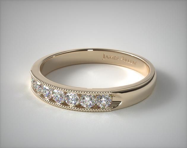 18K Yellow Gold 0.25CTW. Channel Set Diamond Anniversary Ring