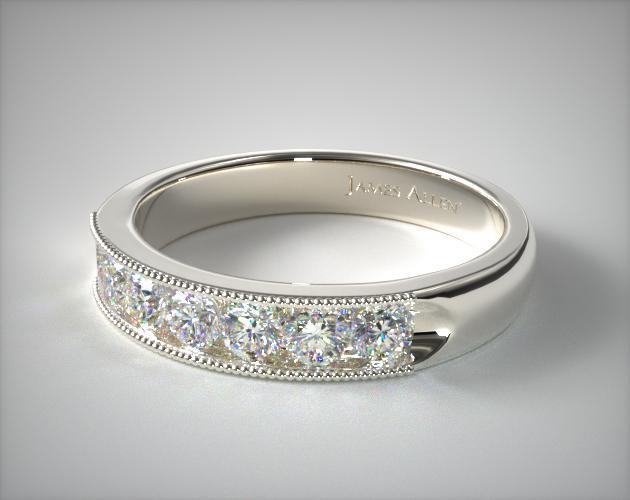 14K White Gold 0.75CTW. Channel Set Diamond Anniversary Ring