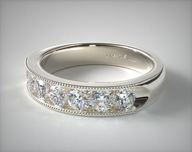 14K White Gold 1.00CTW. Channel Set Diamond Anniversary Ring