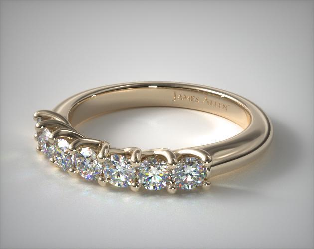 14K Yellow Gold Seven Stone Trellis  Ring ( 0.30 CT TW.)