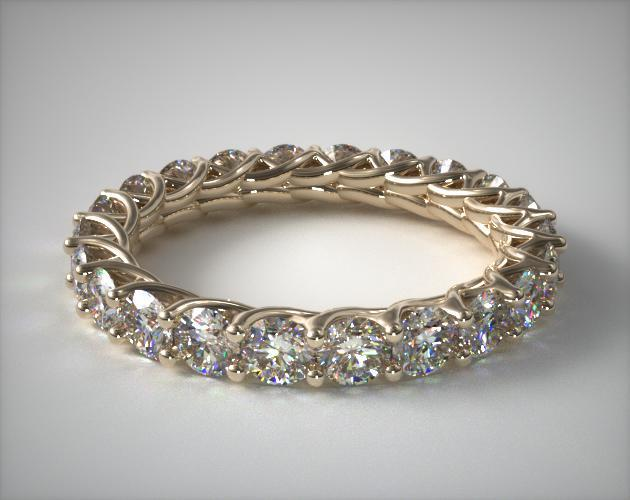 18K Yellow Gold Ladies 2CTW* Trellis Diamond Eternity Ring
